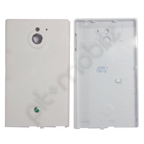 Original Sony Ericsson Akkudeckel für Sony Ericsson Xperia sola MT27i - matt-white / matt-weiß (Akkufachdeckel, Batterieabdeckung) - 1254-5591