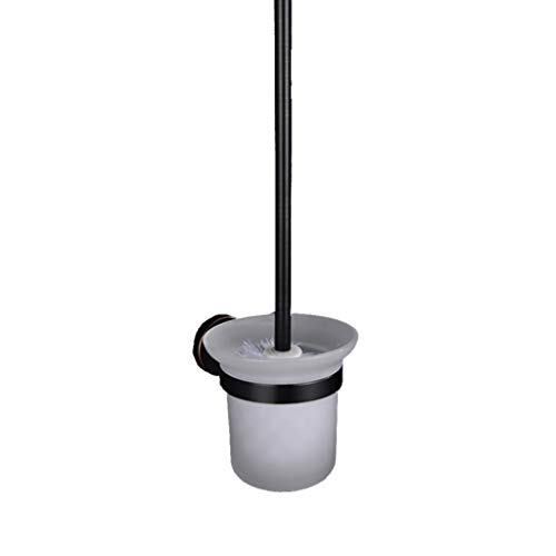 LNTS Badezimmer-Toilettenbürstengarnitur,Toilettenbürstengarnitur, Ganzkupfer, Schwarz Antik, Badezimmer Wandbehang Toilettenbürste