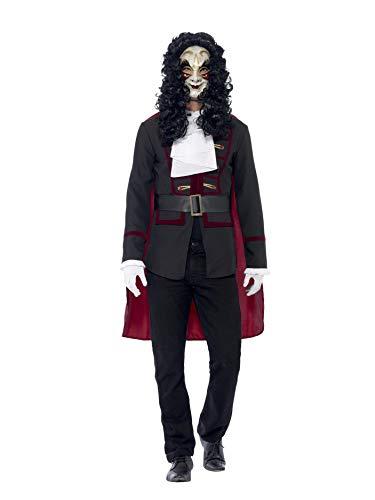 Smiffys, Herren Venezianischer Straßenräuber Kostüm, Jackett, Umhang und Kragen, Größe: L, 43744