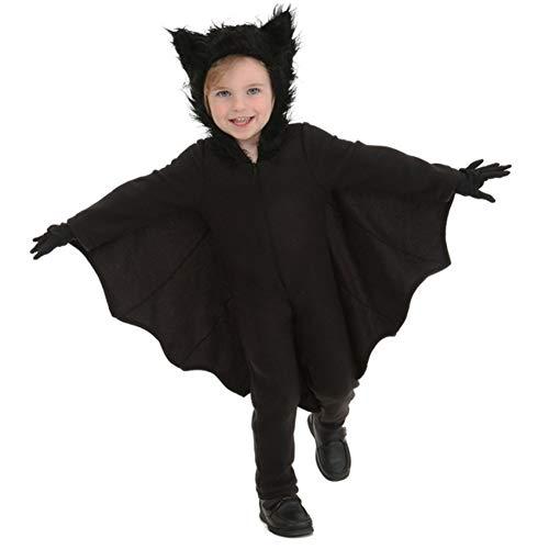 Kostüm Kinder Neueste - ERFD&GRF Neueste Halloween Kostüme Neutral Kinder Overall Fledermaus Halloween Kleid Stil Bühnenkleidung Für Jungen Mädchen Kostüme, Schwarz, XL