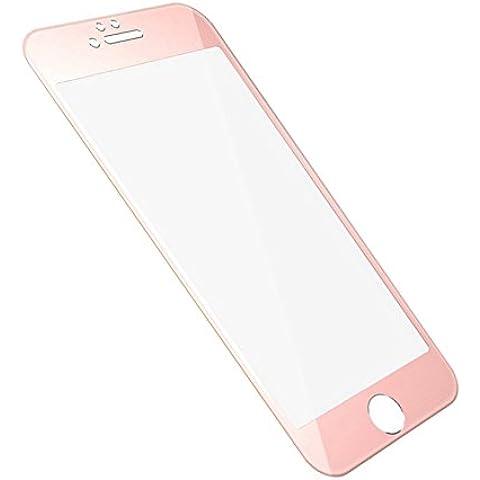 InShang Apple Iphone 6 6S (4.7 inch) Protector de la Pantalla de Cristal Templado,Super resistente al impacto Protectora de pantalla ultra-claro de alta sensibilidad,Full Screen 3D curve 100% fit,+ Titanium alloy