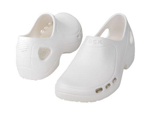 Everlite-Chaussure professionnelle WOCK-Talon fermé ; Ultraléger; Antidérapante; Absorption des chocs Blanc