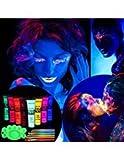 ETEREAUTY UV Bodypainting 8 x 28 ml, Körperfarbe Schwarzlicht fluoreszierende Schminke