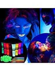 ETEREAUTY UV Bodypainting 8 x 28 ml, Körperfarbe Schwarzlicht fluoreszierende ()