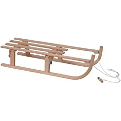XQmax Wooden Sledge - Trineo de nieve, color madera