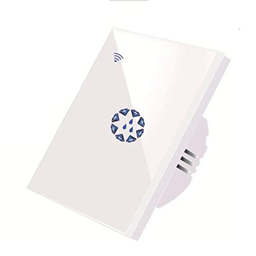 L@CR Warmwasserbereiter Smart Switches, 20A 4400W WiFi Sprach Fernbedienung Start Boiler Touch-Wall Panel Timer-Controller kompatibel mit Amazon Alexa/Google-Assistent,Weiß