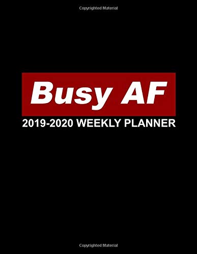 Busy AF 2019-2020 Weekly Planner: Pretty Daily, Weekly and Monthly Planner 2019-2020. Cute Nifty 2 Year Organizer, Yearly Schedule and Agenda with ... and More. (Girly Personal Planners, Band 12)