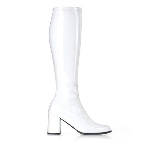 Higher-Heels, chaussures de verni pour homme laque blanc