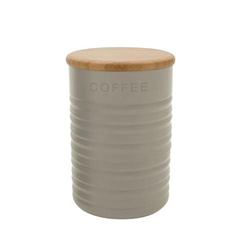 Typhoon Ripple Stone Coffee Canister, Grey
