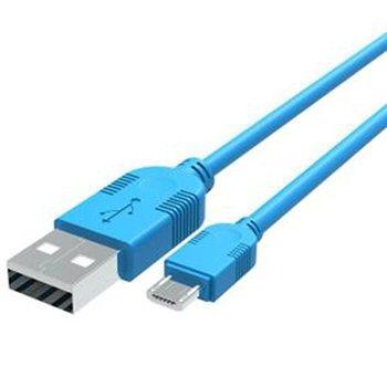 SFR StarAddict Android Edition Câble Data Micro USB bleu 1 mètre pour charge, synchronisation et transfert de données.