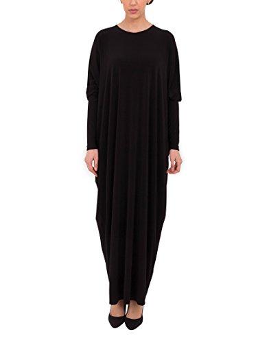 Abaya Burka | Jilbab | Kaftan | Islamic Clothing Maxidress by Black-Size Free Length 54 ()