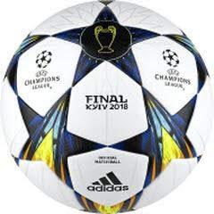 adidas Finale Kiev OMB Ball Fußball, White/Black/SYELLO/Bl, 5