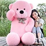 #3: jiokard Stuffed Spongy Teddy Bear (4 Feet, Pink)