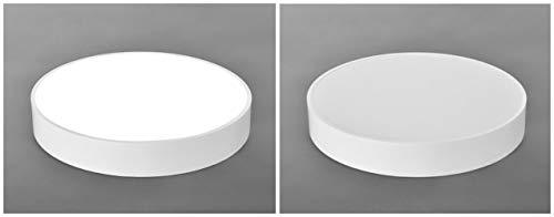 WT-XIDING Kreativ Schwarz Und Weiß Flat Panel Licht Minimalistischen Schlafzimmer Lampen LED Deckenleuchte Runde Wohnzimmer Flur Esszimmer Küche Und Bürobeleuchtung [Energieklasse A+],White,50Cm*8Cm Flat Panel-schwarz