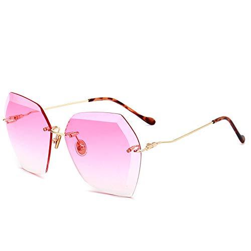 yeahbo Unisex-Sonnenbrille Vintage unregelmäßige Brille Aviator Mirror Design für Herren und ()