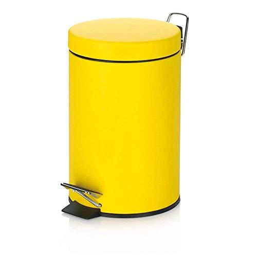 3 L Kosmetikeimer gelb Treteimer Abfalleimer Mülleimer Eimer