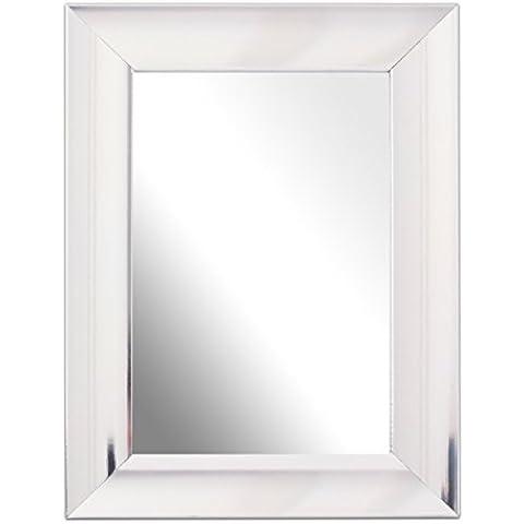 Inov 8 MFED-SPCH 64 tradicional marco de vidrio espejo, 15 x 10 cm, paquete de 2, cucharada de cromo