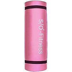Esterilla de yoga de S/O® en 6 colores, 190 x 60 x 1,5 cm, esterilla para gimnasia, Pilates y fitness, sin sustancias nocivas y aislante, rosa