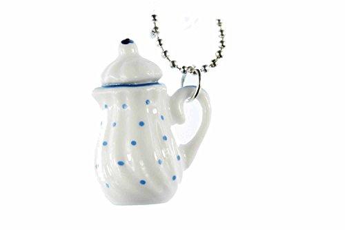 Hot de la cadena de té Miniblings 80 cm jarra de porcelana de lunares azules