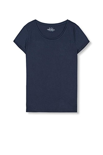 edc by ESPRIT Damen T-Shirt 017cc1k033 Blau (Navy 400)