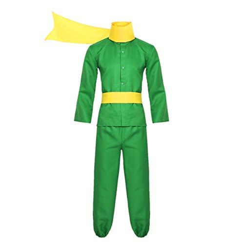 Alvivi Erwachsene Prinz Cosplay Kostüm Fotoshooting Fasching Verkleidung Halloween Karneval Outfit Geschenk Grün Small