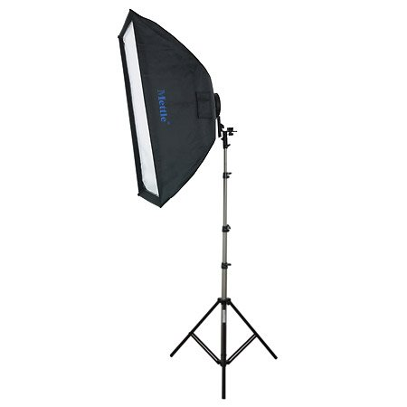 METTLE Systemblitz-Halter Set XL 2 mit Softbox 60 x 90 cm