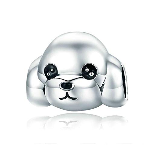 ANLW Pandora Charms Bead Cute Animal puddel s925 Sterling Silber lose Perlen Armbänder Zubehör passen Charms Armband
