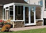 Conservatory 4.5x3m white upvc, lean-to
