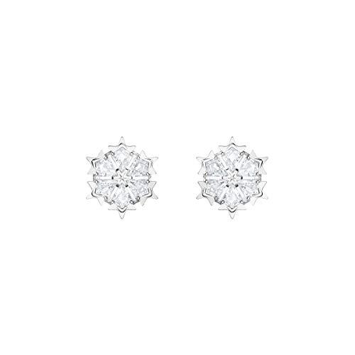 Swarovski Magic Ohrringe für Frauen, weißes Kristall, rhodiniert