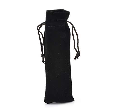 Sunonvi 10 Stücke Schwarz Samt Kordelzug Beutel Schmuck Geschenk Taschen 15,5X5,5 cm (6 1/8