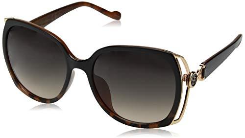 Jessica Simpson Damen J5686 Oxts nicht-polarisierte Iridium-Sonnenbrille, rund, Schwarz, 60 mm
