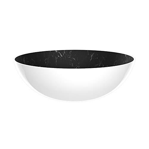 Zak Designs 1304-180 Saladier, Marbre Noir/Blanc, 27 x 27 x 9 cm