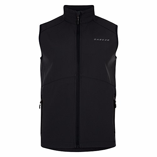 Dare 2b Mens Invoke Light Polyester Softshell Breathable Gilet Black