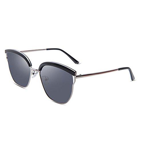 Ms. Polarisierte Sonnenbrille Frauen große Rahmen Mode Sonnenbrillen Outdoor-Brillen,A
