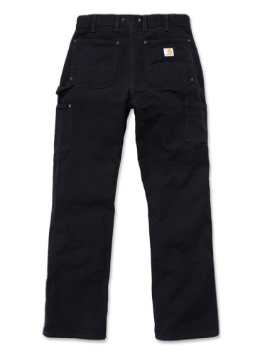 Carhartt. EB136. BLK. S456 Washed Duck double-front Work Dungaree, schwarz, W42/L30 midnight
