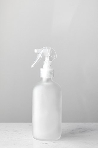 Frosted Clear Glass (Apothecary Frosted Glass Mist Bottle with Clear Mist Nozzle by Rail19)