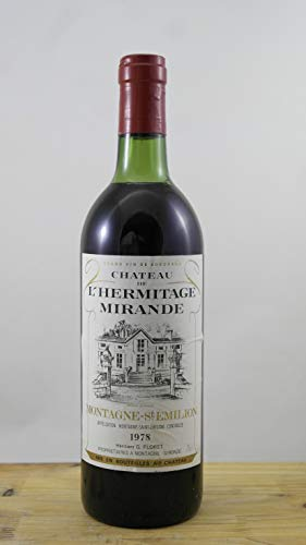 Wein Jahrgang 1978 Château de l\'Hermitage Mirande ELA Flasche