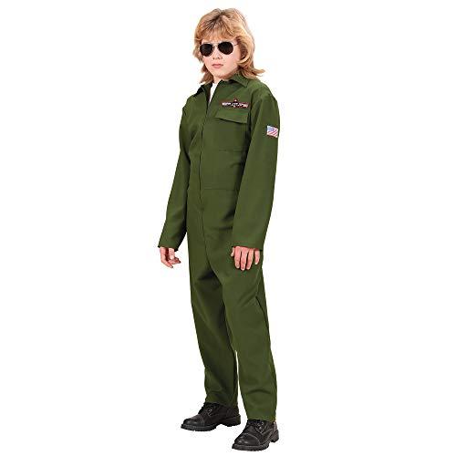Widmann 73138 - Kinderkostüm Top Gun, Overall, Größe 158 (Airline Kids Pilot Kostüm)