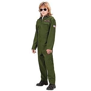 WIDMANN Widman - Disfraz de piloto de caza de la segunda guerra mundial para niño, talla 5 - 7 años (73136)