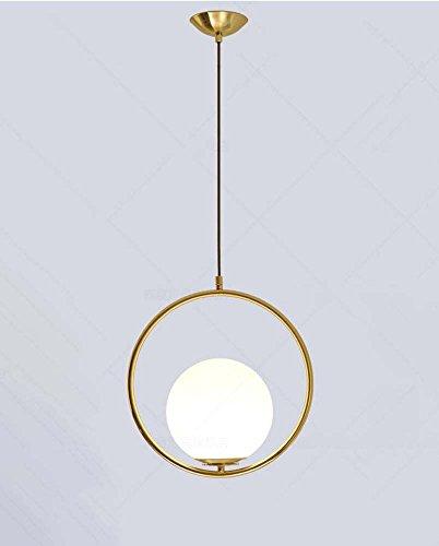 Moderno e minimalista circolare anello lampadario soggiorno ingresso luce pendente personalità lampadari in vetro palla (nero, oro) ( color : gold )