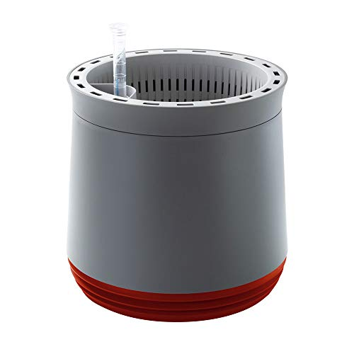 AIRY pot - Natürlicher Luftreiniger für Allergiker - Patentierter Pflanztopf als Filter gegen Schadstoffe, Haus-Staub, Pollen, Geruch, Allergie (rot) -