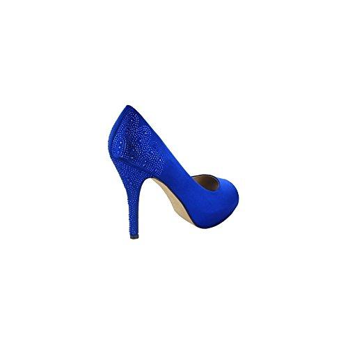 Menbur ,  Damen Peep Toes Dazzling Blue