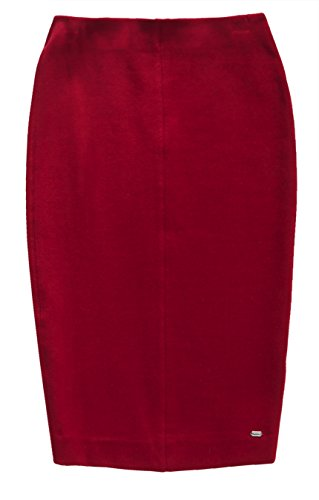 Superdry Damen Rock Natasha Ponte Pencil Skirt purpur (Wine RedXFI)