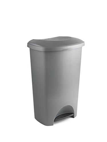 addis-pedal-bin-metallic-grey-50-litre