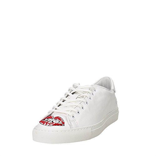 D.A.T.E. ACE-17I Petite Sneakers Homme Blanc