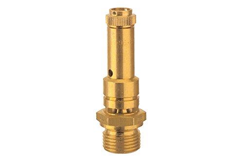 Sicherheitsventil DN 8, Messing, Betriebstemperatur -25 °C bis 180 °C, G 3/8, SW 20, Ansprechdruck 11 bar, baumustergeprüft