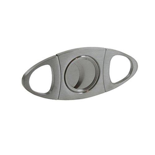 ULTNICE Tijeras de guillotina de hoja doble de acero inoxidable para cortador de cigarro para la mayoría del tamaño de cigarros