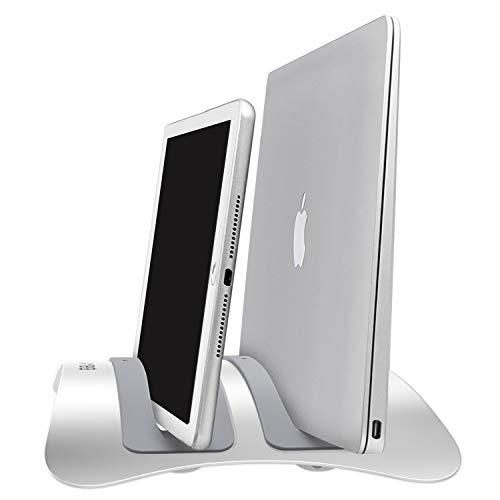 Urbo Doppel Laptop Ständer vertikal. Notebook Ständer für Laptops und Tablets in verschiedenen Größen (denn Sie haben bestimmt mehr als ein Gerät)
