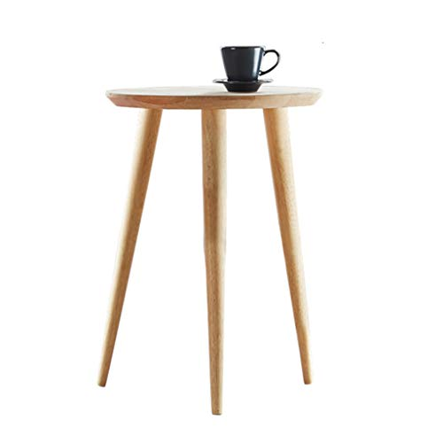 Tables basses en Bois Massif Simple Moderne Petite Table Ronde canapé Balcon Porche Table Fleur Stand (Color : Beige, Size : 40 * 40 * 56cm)