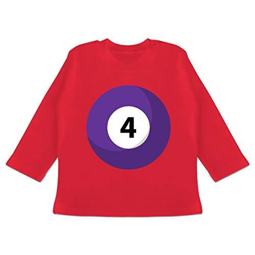 g Baby - Billardkugel 4 Kostüm - 3-6 Monate - Rot - BZ11 - Baby T-Shirt Langarm ()